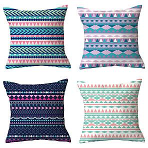 cheap Sale-4 pcs Throw Pillow Simple Classic 45*45 cm Cushion Vintage Circle Cover Sofa Home Decor Throw Pillow Case