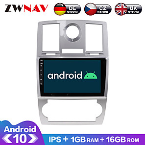 cheap Car DVD Players-ZWNAV 9inch 1din 1GB 16GB Android 10.0 2.5D IPS Car Radio Car GPS Navigation Stereo Navi in Dash Car MP5 Player Car Multimedia Player Video Player with Bluetooth WiFi BT for Chrysler 300C 2000-2014
