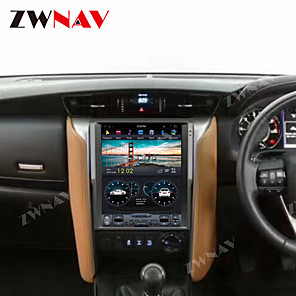 cheap Car DVD Players-ZWNAV 12.1 Inch 1din Android 8.1 Tesla style Car DVD Player GPS Navigation Satnav Car multimedia Player Car MP5 Player tape recorder For Toyota Fortuner 2016-2019