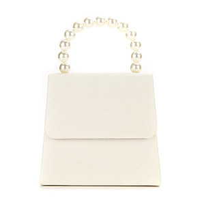 cheap Clutches & Evening Bags-Women's Pearls Polyester / Alloy Evening Bag Solid Color Beige