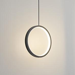 cheap Pendant Lights-30 cm LED15W Mini Pendant Light Aluminum Circle / Mini Painted Finishes Black White Frame for Living Bed Dinning Room Modern 110-120V / 220-240V