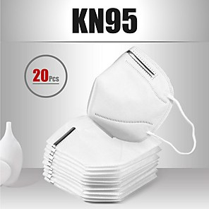 cheap Face Masks-20 pcs KN95 Mask Face Mask Respirator Protection Melt Blown Fabric Filter High Quality Men's Women's White / Filtration Efficiency (PFE) of >95%