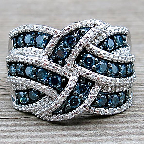 cheap Rings-Women's Ring Sapphire 1pc Silver Platinum Plated Alloy Stylish Daily Jewelry Cute