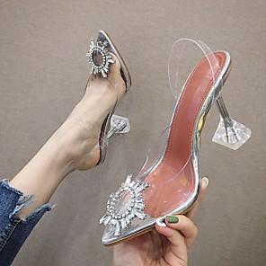 cheap Women's Heels-Women's Heels Stiletto Heel Pointed Toe PU Spring & Summer Yellow / Silver