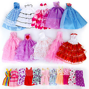 cheap Dolls Accessories-Doll accessories Doll Clothes Doll Dress Clothing Tulle Lace Fabrics Simple Creative Kawaii Handmade Toy for Girl's Birthday Gifts  Random Color