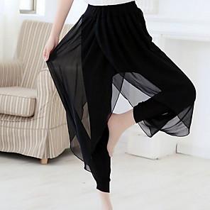cheap Ballroom Dancewear-Activewear Pants Ruching Women's Training Chinlon