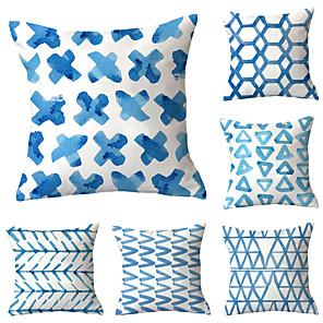cheap Pillow Covers-6 pcs Throw Pillow Simple Classic 45*45 cm Cushion Vintage Circle Cover Sofa Home Decor Throw Pillow Case