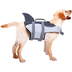 cheap Dog Training & Behavior-Dog Vest Life Vest Solid Colored Animal Simple Style Animal Dog Clothes Swimming Yellow Rose Gray Costume Terylene Waterproof Material S M L