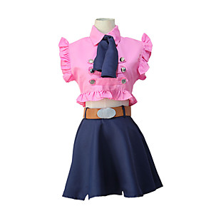 cheap Anime Costumes-Inspired by The Seven Deadly Sins Elizabeth Anime Cosplay Costumes Japanese Cosplay Suits Top Waist Belt For Women's