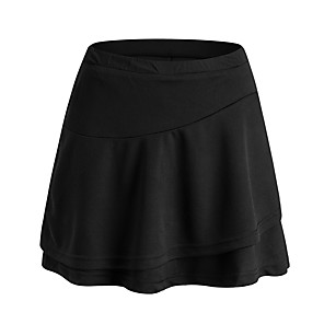 cheap Golf, Tennis & Badminton-Women's Tennis Golf Skirt Quick Dry Breathable Soft Sports Outdoor Autumn / Fall Spring Summer Solid Color White Black / Stretchy