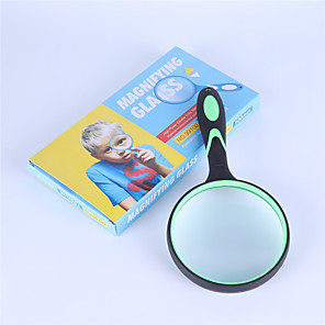 cheap Magnifying Glasses-Portable 10x magnifier 100mm rubber handle magnifier eyepiece