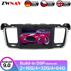 cheap Car DVD Players-ZWNAV 7inch 2din 4GB 64GB Android 9 Car DVD player GPS navigation auto radio car Multimedia Player radio Stereo For PEUGEOT 508 2011-2017