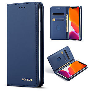cheap iPhone Cases-iPhone11Pro Max Simple Atmospheric Flip Wallet Leather Case Mobile Shell XS Max Shockproof Shockproof Pluggable 6/7 / 8Plus / 5s Protective Case