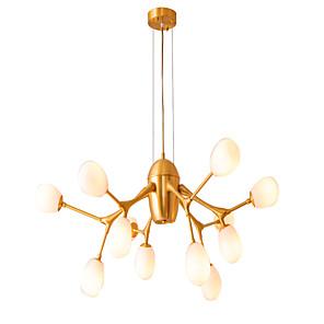 cheap Dimmable Ceiling Lights-ZHISHU 100 cm Dimmable / Sputnik Design Chandelier Copper Glass Sputnik / Globe Brass Artistic / Nordic Style 110-120V / 220-240V