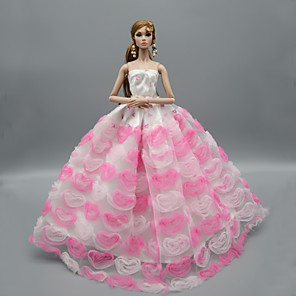 cheap Dolls Accessories-Doll accessories Doll Clothes Doll Dress Wedding Dress Party / Evening Wedding Ball Gown Tulle Lace Plastic For 11.5 Inch Doll Handmade Toy for Girl's Birthday Gifts  Doll Not Included