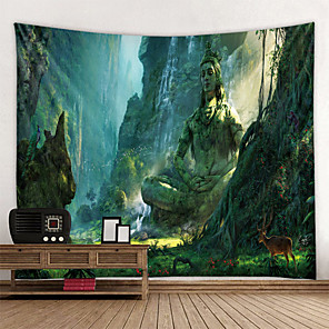 cheap Wall Tapestries-Wall Tapestry Art Decor Blanket Curtain Picnic Tablecloth Hanging Home Bedroom Living Room Dorm Decoration Fantasy Fairy Tale Buddha Forest