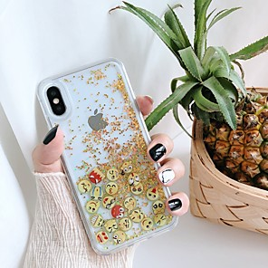 cheap iPhone Cases-Case For Apple iPhone 11 / iPhone 11 Pro / iPhone 11 Pro Max Shockproof / Flowing Liquid / Pattern Back Cover Solid Colored / Glitter Shine PC