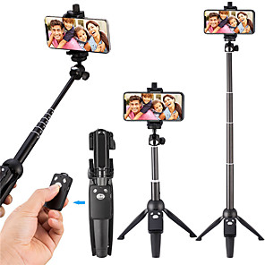 cheap Backgrounds-Selfie Stick Tripod 40-Inch Wireless Remote and Tripod Stand Monopod for iPhone X 8/8 Plus xiaomi huawei Bluetooth Selfie Stick