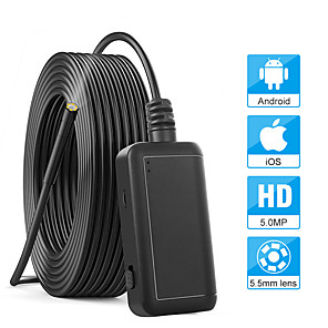 cheap CCTV Cameras-5.5mm 1920P Inspection Camera 5.0MP Wireless Borescope WiFi Snake Camera with 6 LED for iPhone Samsung Android Tablet