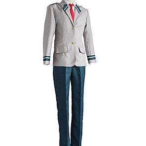 cheap Anime Costumes-Inspired by My Hero Academia Boko No Hero Midoriya Izuku Anime Cosplay Costumes Japanese Cosplay Suits Coat Pants Tie For Men's