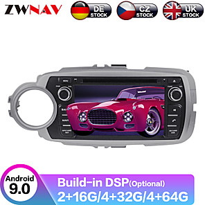cheap Synthetic Lace Wigs-ZWNAV 7inch 2din 4GB 64GB Android 9.0 Car GPS Navigation car DVD player Autoradio Player Car Multimedia player For TOYOTA Yaris 2012