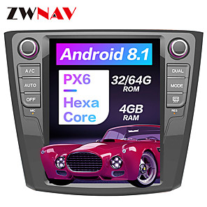 cheap Car DVD Players-ZWNAV 10.4inch 1DIN Android 8.1 4GB 64GB PX6 Tesla style Car GPS Navigation Car multimedia player In-Dash Car DVD Player For Renault Kadjar 2016-2018