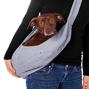 cheap Dog Clothes-Dog Cat Shoulder Messenger Bag Sling Shoulder Bag Portable Cartoon Design Travel Animal Character Fabric Pink Blue Gray