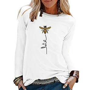 cheap Wedding Shoes-Women's Animal T-shirt - Cotton Daily White / Black / Blue / Red / Yellow
