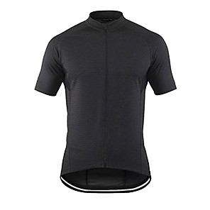cheap Cycling Jerseys-21Grams Men's Short Sleeve Cycling Jersey Black Bike Jersey Top Mountain Bike MTB Road Bike Cycling UV Resistant Breathable Quick Dry Sports Clothing Apparel / Stretchy / Race Fit / Italian Ink