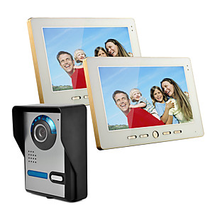 cheap Video Door Phone Systems-Wired 10 Inch Hands-free 800*480 Pixel One To Two Video Doorphone