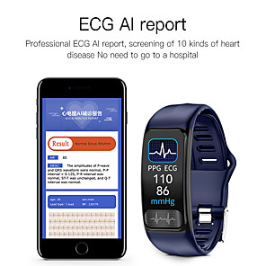 cheap Smartwatches-Imosi P12 ECG PPG smart bracelet heart rate oxygen monitor blood pressure smart belt IP67 waterproof call reminder sports Band
