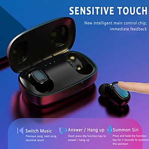 cheap Wired Earbuds-LITBest T10-TWS TWS True Wireless Earbuds Wireless Bluetooth 5.0 Stereo with Microphone with Charging Box Waterproof IPX4 Sweatproof for Sport Fitness