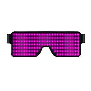 cheap Smart Novelty Lights-1pcs 11 Modes Luminous Glasses Quick Flash Led Party Glasses USB Charge Christmas Concert Light Toys Light Eyeglasses