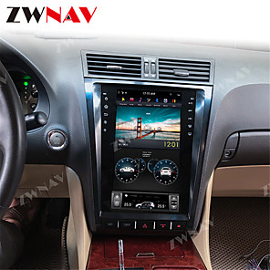 cheap Car DVD Players-ZWNAV 12.1inch 1din 4GB 64GB Tesla style Android 8.1 Car GPS Navigation car DVD Player radio tape recorder car multimedia player For Lexus GS GS300 GS460 GS450 GS350
