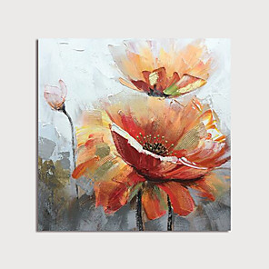 cheap Abstract Paintings-Hand Painted Canvas Oilpainting Abstract Flowers s by Knife Home Decoration with Frame Painting Ready to Hang