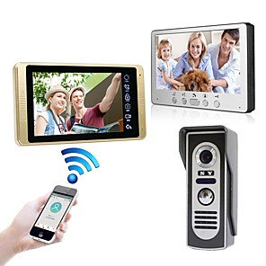 cheap Inflatable Pump-Wired & Wireless 7 inch Hands-free 1024*600 Pixel One to One video doorphone