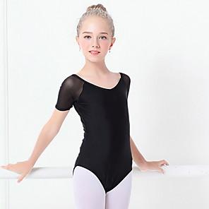 cheap Ballet Dancewear-Ballet Leotard / Onesie Ruching Girls' Training Short Sleeve Stretch Yarn