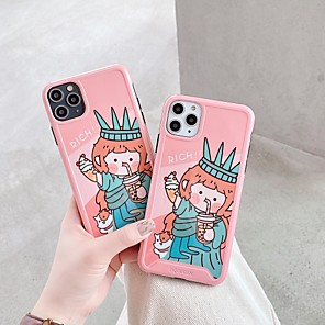 cheap iPhone Cases-Case For Apple iPhone 11 / iPhone 11 Pro / iPhone 11 Pro Max Shockproof / Ultra-thin / Frosted Back Cover Cartoon PC