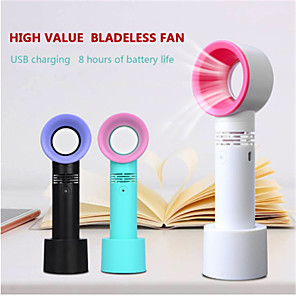 cheap Household Appliances-Mini Fan Cooler Bladeless-Fan Ventilator Student Portable Desktop Handheld USB Charging Small Fan