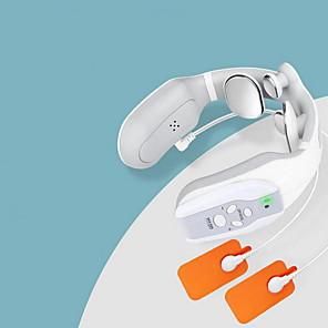 Χαμηλού Κόστους Φροντίδα μωρού-μασάζ για το λαιμό, έξυπνο φορητό μασάζ του αυχένα με θερμαινόμενο ασύρματο, 3 τρόπους 15 επίπεδα έξυπνη βαθιά ιστού ενεργοποίηση σημείο μασάζ χρήση στο σπίτι, υπαίθρια, γραφείο, αυτοκίνητο