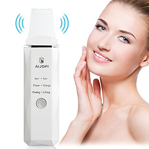 cheap Facial Care Device-Professional Ultrasonic Facial Skin Scrubber Ion Deep Face Cleaning Peeling Rechargeable Skin Care Device