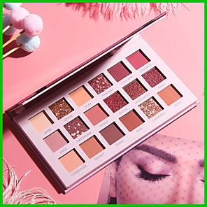 cheap Eyeshadows-18 Colors Eyeshadow Matte Eye EyeShadow Cream Kits Easy to Carry Easy to Use lasting Shimmer glitter gloss Long Lasting water-resistant Daily Makeup Halloween Makeup Party Makeup Cosmetic Gift