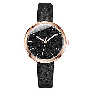 cheap Quartz Watches-Women's Quartz Watches Fashion Black Blue Pink PU Leather Chinese Quartz Blushing Pink Blue Black Casual Watch 1 pc Analog One Year Battery Life