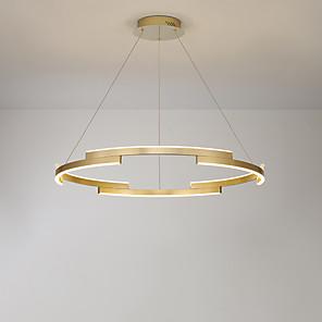 cheap Dimmable Ceiling Lights-Austen Ding 80 cm Circle Design Chandelier Aluminum Anodized LED / Modern Generic