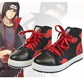 cheap Anime Costumes-Inspired by Naruto Uchiha Itachi Anime Cosplay Costumes Japanese Cosplay Boots Shoes For Men's Women's