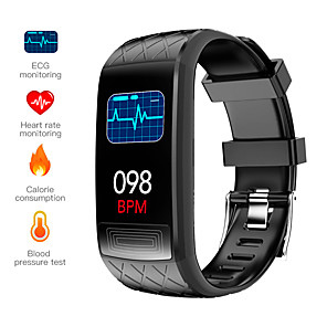 cheap Smartwatches-V3E Smart Wristband Support ECG+PPG/Heart Rate/ Blood Pressure Measurement Waterproof Fitness Tracker with TWS Wireless Headphones