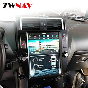 cheap Car DVD Players-ZWNAV 10.4inch 1din PX6 Tesla style Android 8.1 Car GPS Navigation Car MP5 Player Car multimedia Player radio tape recorder For TOYOTA LAND CRUISER prado 2010-2013