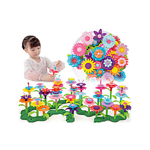 cheap Pretend Professions & Role Playing-Pretend Play Garden Theme Family Flower Hand-made Decompression Toys Parent-Child Interaction Plastic Shell Child's Toddler All Toy Gift 46 pcs