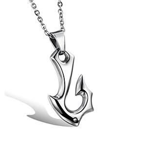 cheap Pendant Necklaces-Men's Women's Pendant Necklace Classic Fish Fashion Titanium Steel Silver 50 cm Necklace Jewelry For Party Evening Festival