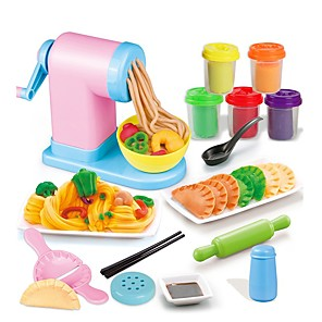 cheap Phone Mounts & Holders-17 pcs Toy Kitchen Set Pretend Play Plasticine Food Family Pasta Simulation Hand-made Parent-Child Interaction Plastic Shell Kid's Child's DIY Toys Party Favors & Gifts